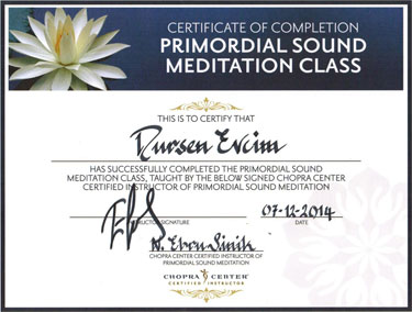 Certificate of completion meditation